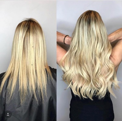 Tape-in Hair Extension Installation Salon Services