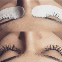 Eyelashes Before & After