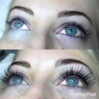Eyelashes Before & After Lashes Service