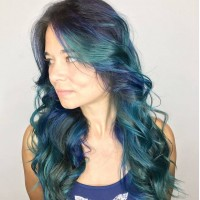 Mermaid Hair Color Style