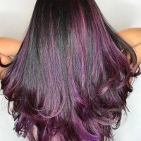 Purple Balayage Funky Hair