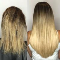 Cold-Fusion Bonded Hair Extensions