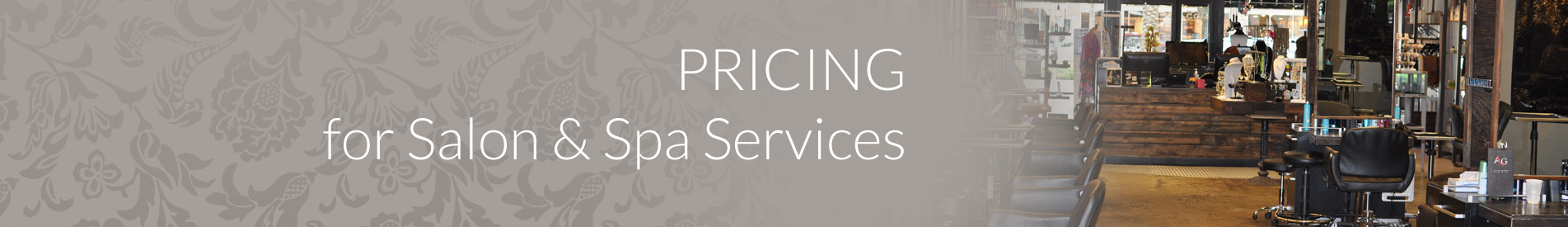 Avant Garde Hair Salon Spa Services Pricing