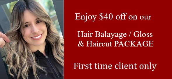 $40 off First Time Hair Coloring/ Balayage & Haircut