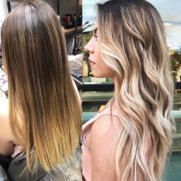 Color Correction Hair Before and After
