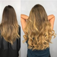 Before and After Great Lengths Hair Extensions