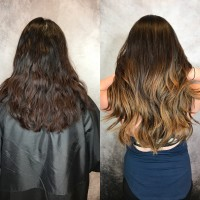 Hair Extensions Before and After Professsional Salon