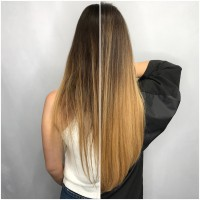 Amazing Transitions Hair Extensions Before and After