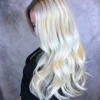 Silver Blonde Highlighted Hair