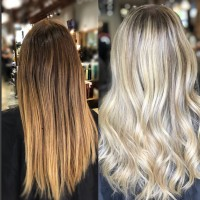 Before and After Balayage Hair Color Coral Gables