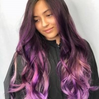 Fun Pink and Purple Shades Funky Hair Color
