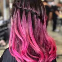 Funky Pink Hair Color and Styling Salon