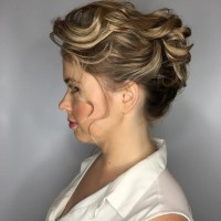 stylish bridal updo