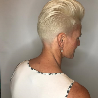 platinum blonde edgy haircut