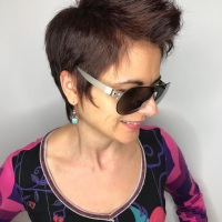 edgy womans haircut miami salon