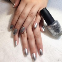silver nails polish opi