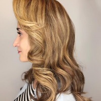vintage style hair waves