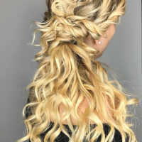 Beautiful Blonde Highlights and Hair Waves