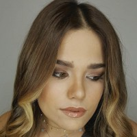 balayage waves and makeup