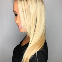 root to ends blonde coral gables hair