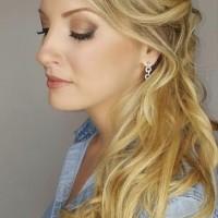 bridesmaids hairstyle and makeup