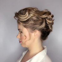 fancy bridal updo