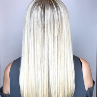 platinum blonde long hair