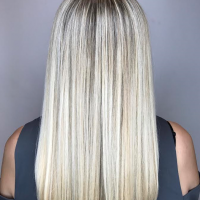 pltinum blonde long hair