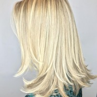 full highlights blonde tones miami salon