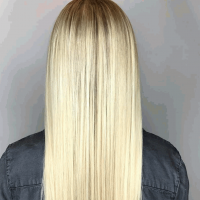 platinum blonde on long hair coral gables