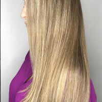blonde highlights long hair