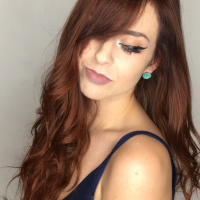 red hair color long hair