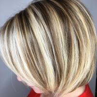 blonde highlights and bob miami style