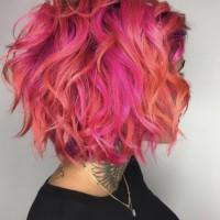 funky pink balayage miami salon