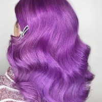 trendy purple hair color