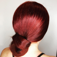 red hair fancy updo