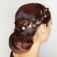Wedding Hair Bun and Hair Styling Salon Coral Gables