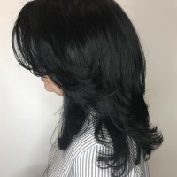 haircut layers black hair
