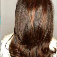brown tones balayage