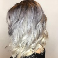 Silver blonde trendy hair color