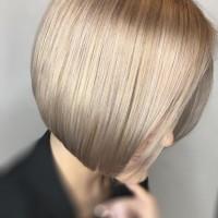 rose gold tones bob haircut