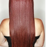 long straight red hair