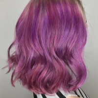 pink purple color and balayage