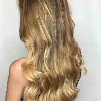 natural gold blonde  balayage
