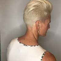 platinum blonde pixie hair cut