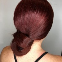 Red Hair in Bun