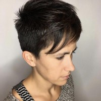 pixie haircut woman