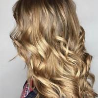 balayage blonde tones