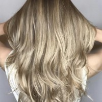 Blended Highlights Straight Hair