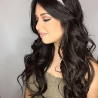 fancy bridesmaids hair do and makeup